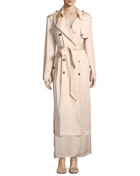 Elizabeth and James Aaron Oversized Trench Coat, Blush