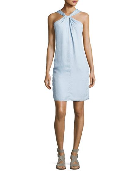 Rag & Bone Collingwood Knotted Halter Dress, Blue