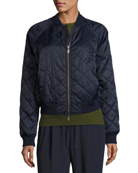 Vince Diamond-Quilted Bomber Jacket : neiman marcus quilted leather jacket - Adamdwight.com