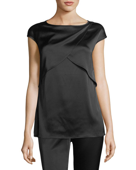 St. John Collection Liquid Satin Bateau Top