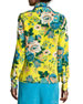 Floral-Print Long-Sleeve Silk Shirt, Multicolor