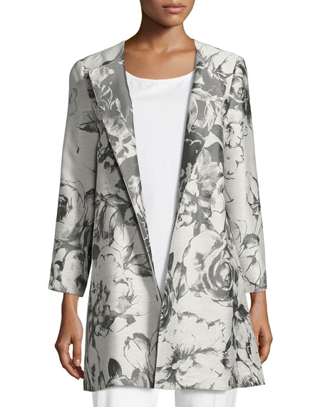 Lafayette 148 New York Karen Botanical Splash Floral-Jacquard