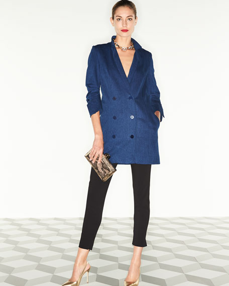 Double-Breasted Denim Shirtdress