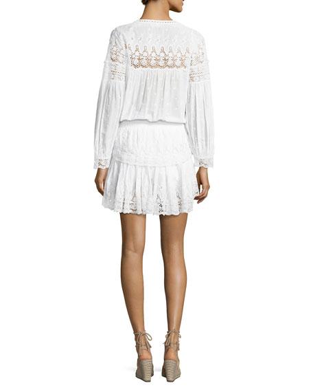 Prairie Popover Crocheted Dress, White