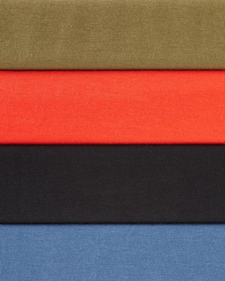 3/4-Sleeve V-Neck Jersey Shift Dress, Petite