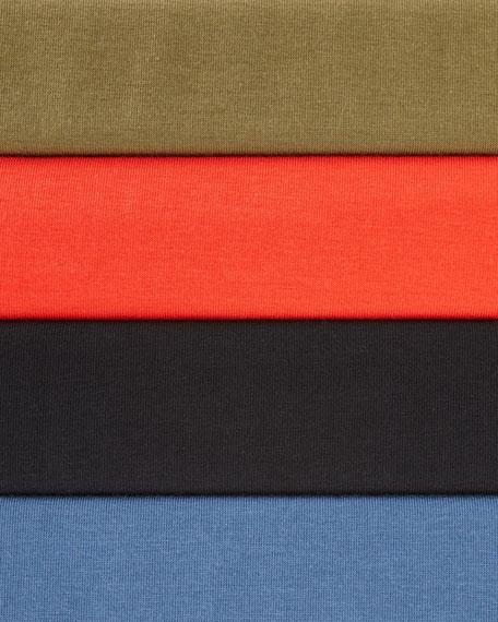 3/4-Sleeve V-Neck Jersey Shift Dress, Plus Size