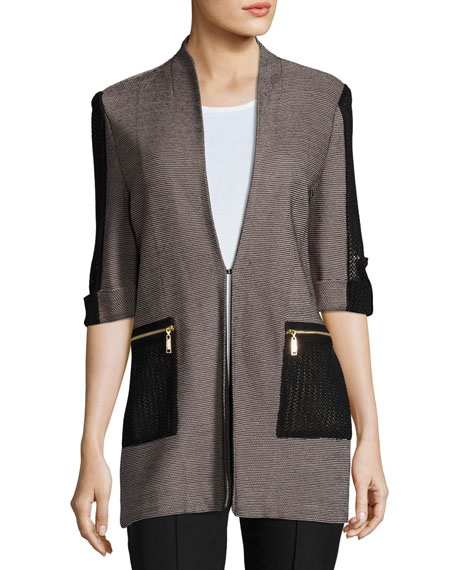 Woven Jacket with Zip Pockets