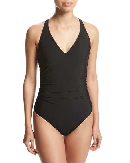 Trudy Solid One-Piece Swimsuit
