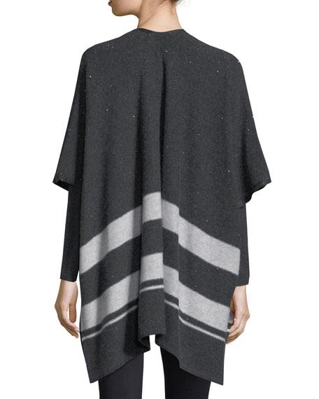 Sequin Striped Cashmere Shawl