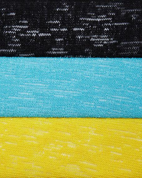 Gauze Knit Draped Jacket, Petite