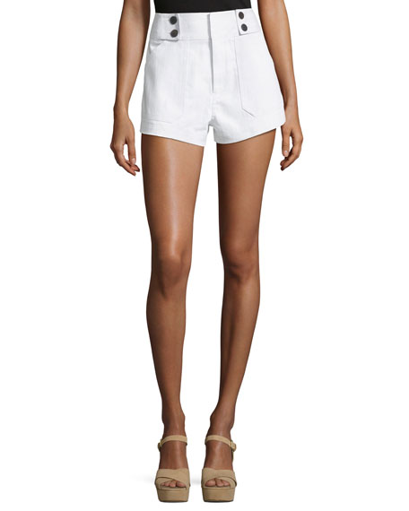 Derek Lam 10 Crosby Utility Shorts with Button