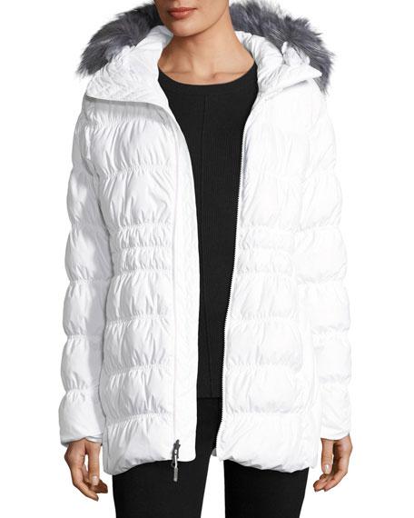 Cryos Stretch Down Puffer Jacket w/ Faux-Fur
