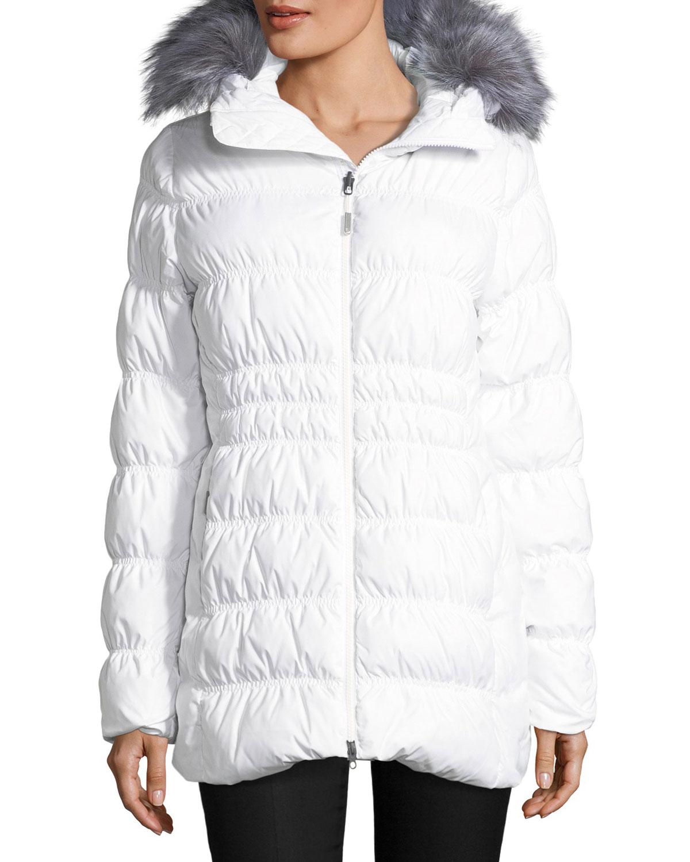 The North Face Cryos Stretch Down Puffer Jacket w  Faux-Fur  dd708e254