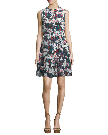 Saloni Tilly Sleeveless Mini Dress Multi