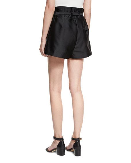 3.1 Phillip Lim Satin Origami Shorts, Black