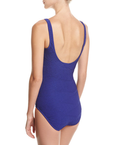 Essence Square-Neck One-Piece Swimsuit