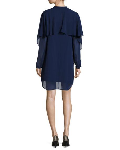 Chiffon Slip Dress W/ Slip, Blue