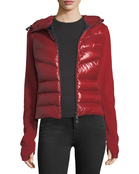 Knit Combo Quilted Puffer Cardigan