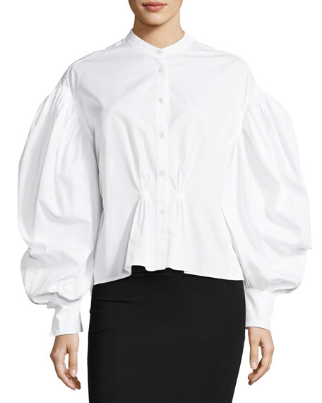 Burberry Lillium Voluminous-Sleeve Shirt