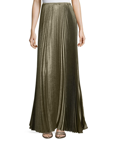 Lafayette 148 New York Florianna Bijoux Pleated Metallic