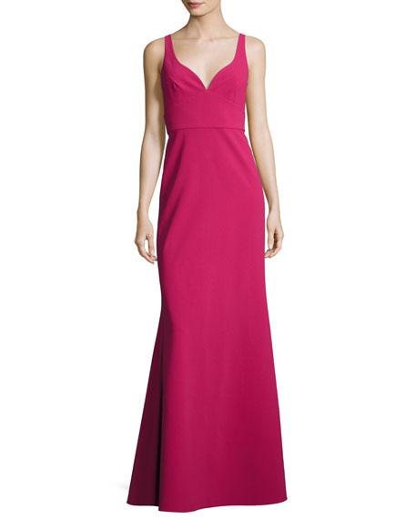 Jill Jill Stuart Sleeveless Crepe Faux Sweetheart Gown