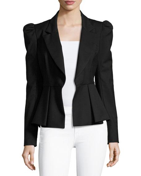 Victoria Italian Stretch-Wool Gabardine Blazer