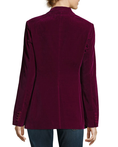 Theory Power Stretch-Velvet Tailored Jacket