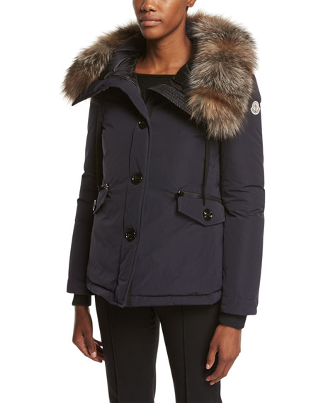 Malus Fur-Trim Puffer Jacket
