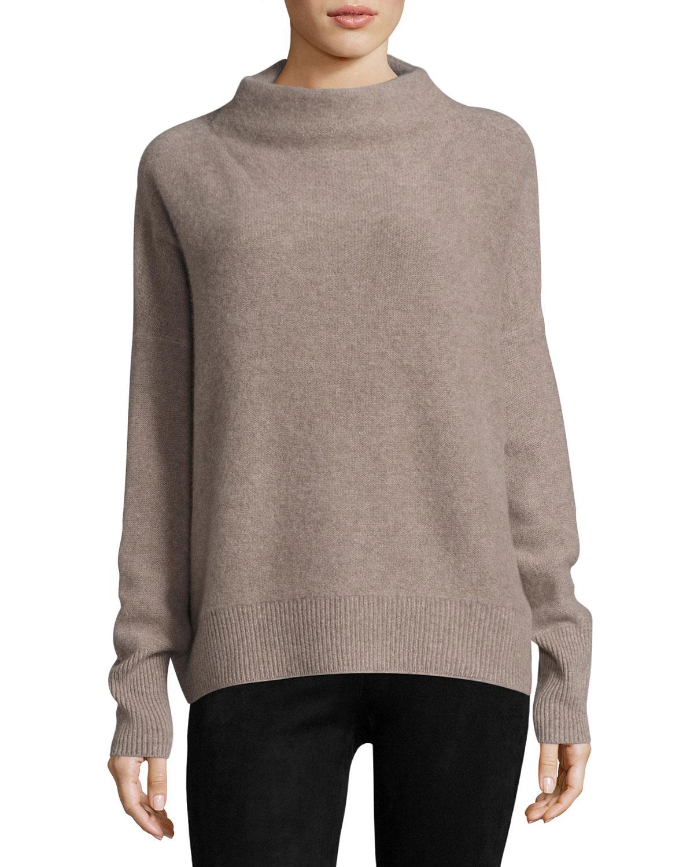 c7317083e88509 Vince Funnel-Neck Cashmere Pullover Sweater | Neiman Marcus