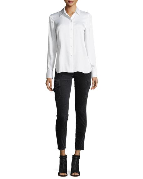 Slim Fit Button-Front Shirt