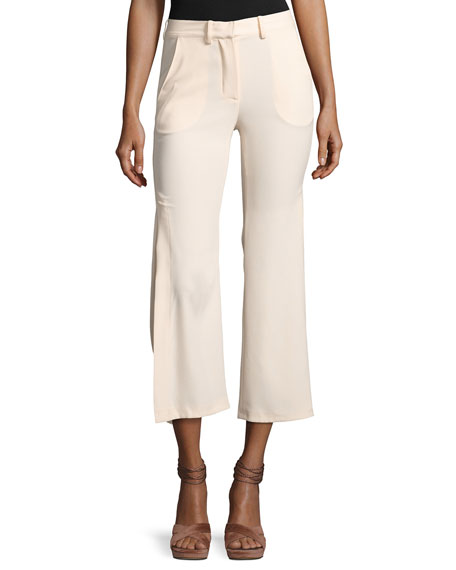 Haute Hippie Audrey Side-Slit Flared Pants and Matching