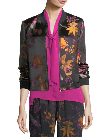 Kobi Halperin Catharina Sleeveless Tie-Neck Silk Blouse and