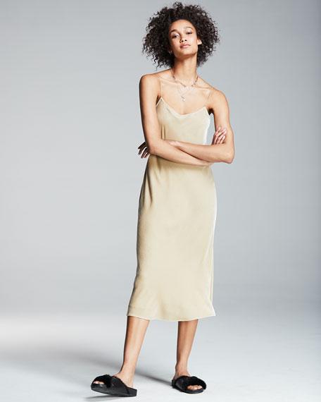 Sleeveless Velvet Tank Maxi Dress