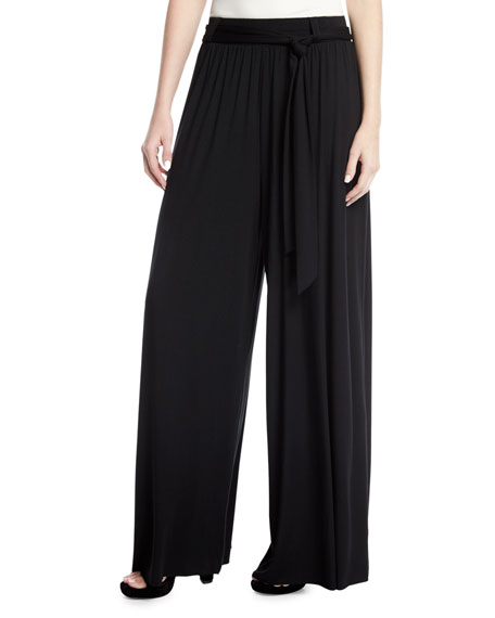 Gibson Wide-Leg Drama Pants, Plus Size