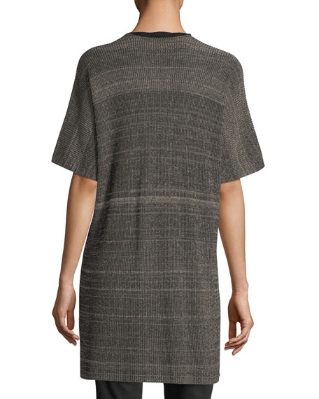 Sleek Elbow-Sleeve Kimono Cardigan