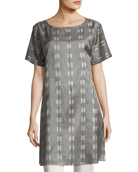 Eileen Fisher Natural Dyed Shibori Long Tunic