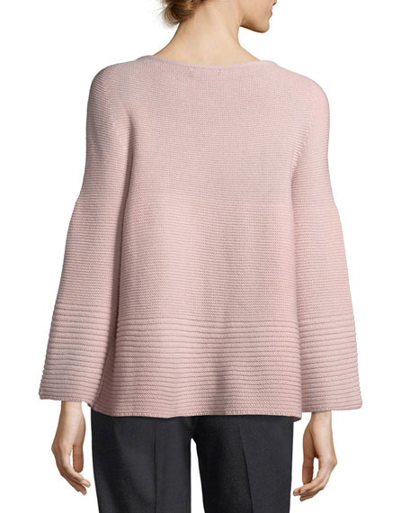 Ballet-Neck Ribbed Sweater