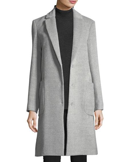 Antonelli Snap-Front Wool Cocoon Coat