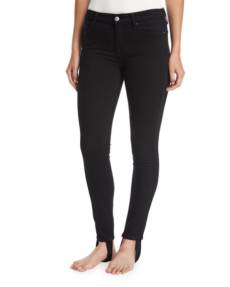 B(Air) High-Rise Ankle Skinny Jeans w/ Stirrup
