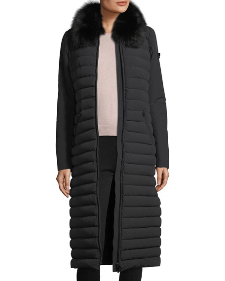 Zambla Long Ribbed Puffer Coat