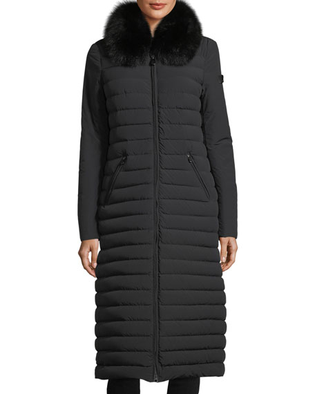 Peuterey Zambla Long Ribbed Puffer Coat