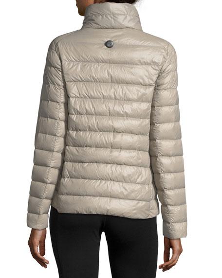Double-Face Hooded Wool Coat w/ Ultra Light Down Jacket