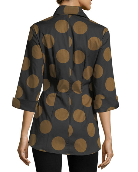 Courtney Dotted Wrap Blouse
