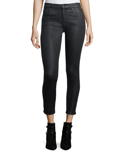 Coated Skinny Ankle Jeans