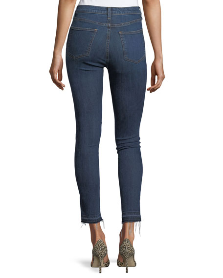 "Debbie 10"" Raw-Hem Button-Fly Denim Jeans"