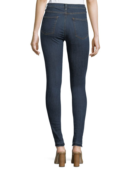 "Kate 10"" Mid-Rise Skinny Jeans w/ Patches"