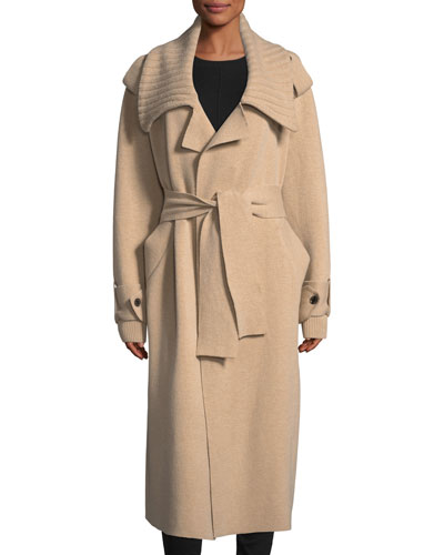 Wool-Blend Long Coat