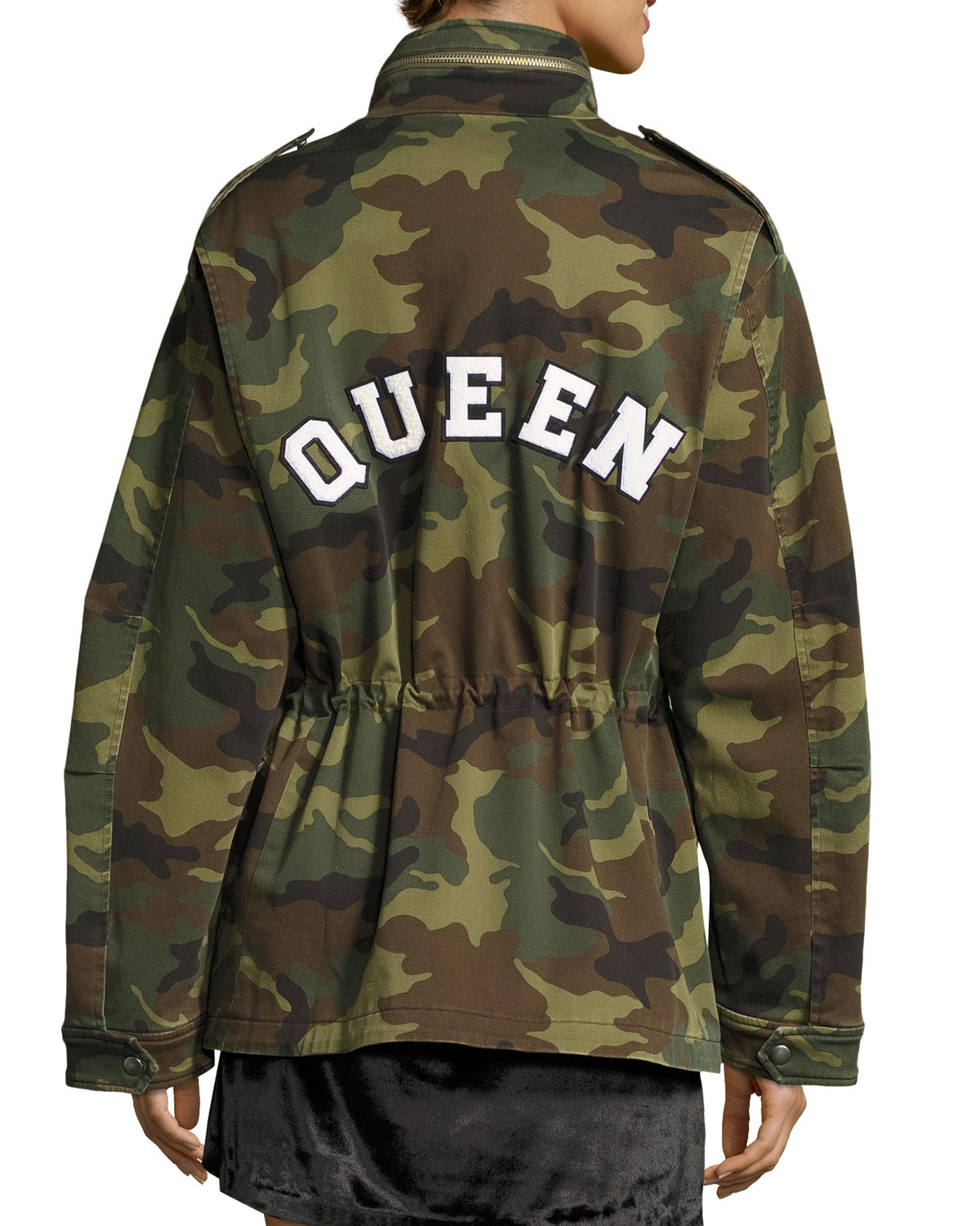 c47a6cc046bd8 Alice + Olivia Russo Oversized Camouflage Cotton Parka | Neiman Marcus
