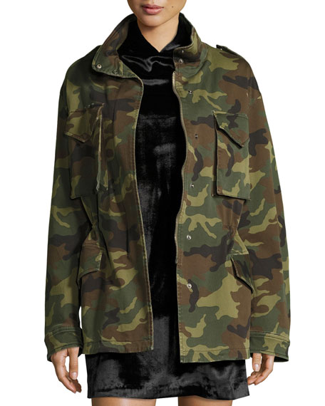 Image 2 of 3: Russo Oversized Camouflage Cotton Parka