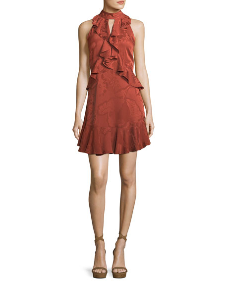 cinq a sept Maxime Satin Burnout Sleeveless Mini